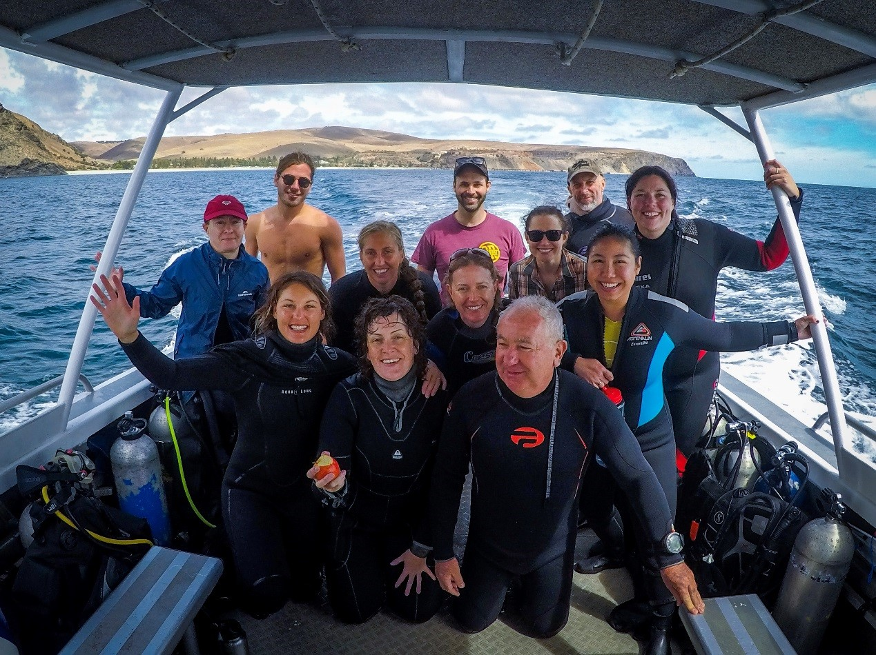 SA RLS Volunteers fresh from a dive! Photo by Jamie Hicks